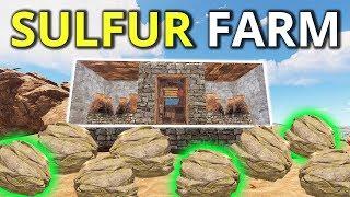 ONLINE RAIDING A SULFUR FARMING BASE! - Rust Survival 2/4