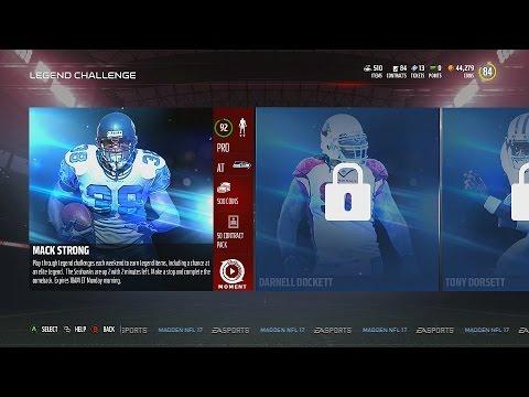 Madden NFL 17 | MUT Legend Challenge | Mack Strong