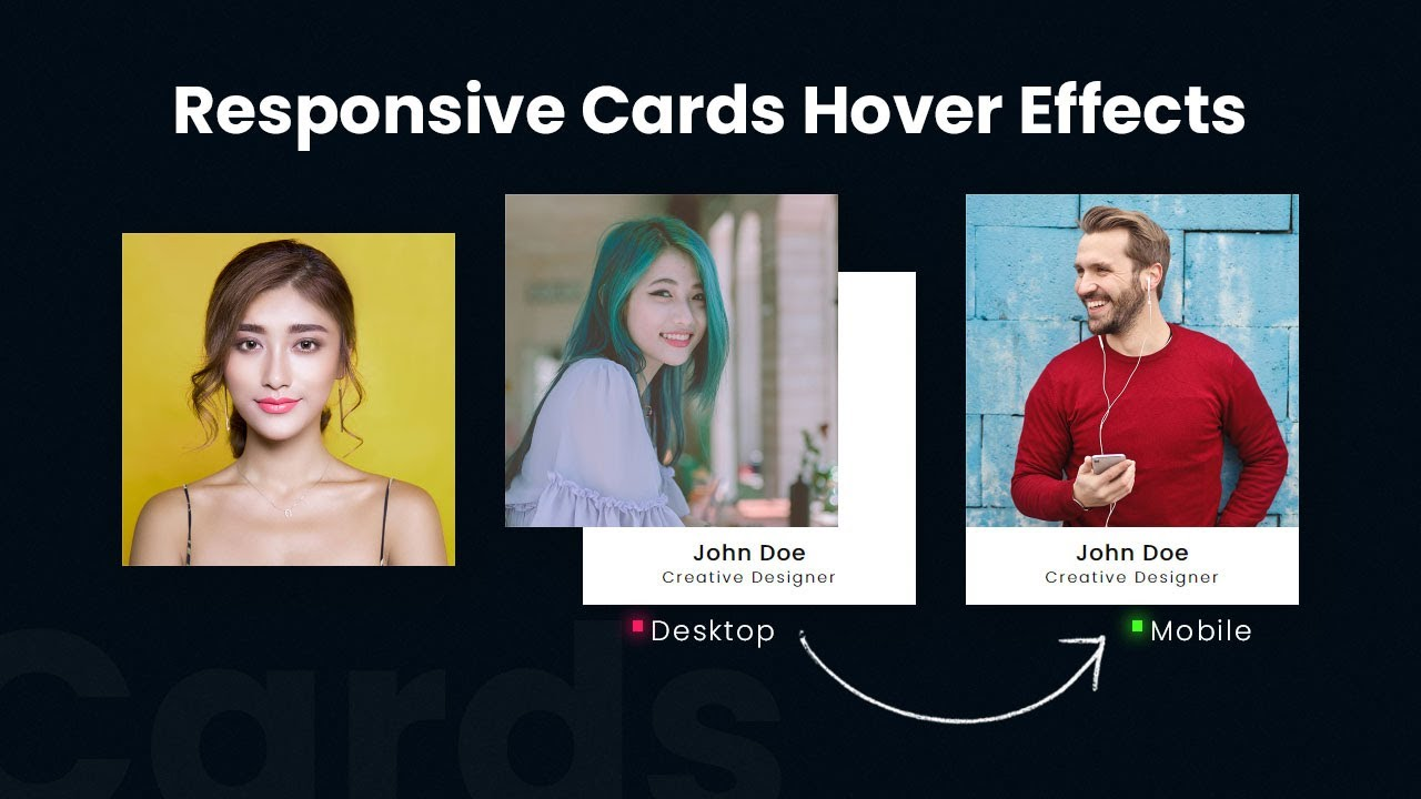 CSS Responsive Card Hover Effects | How To Create Simple CSS Card