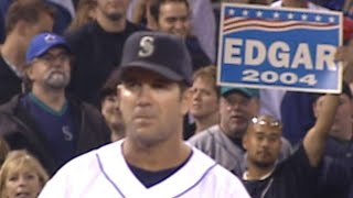 Edgar goes to third, comes out to ovation
