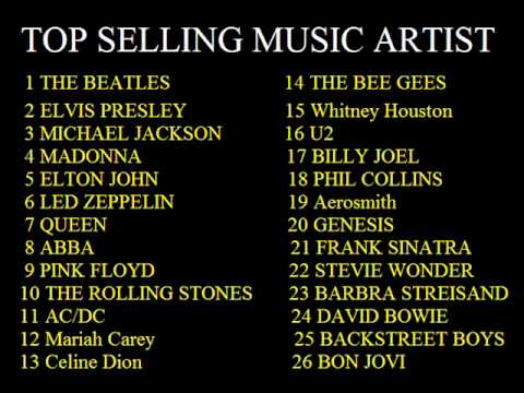 Top Selling Music Artist All Time