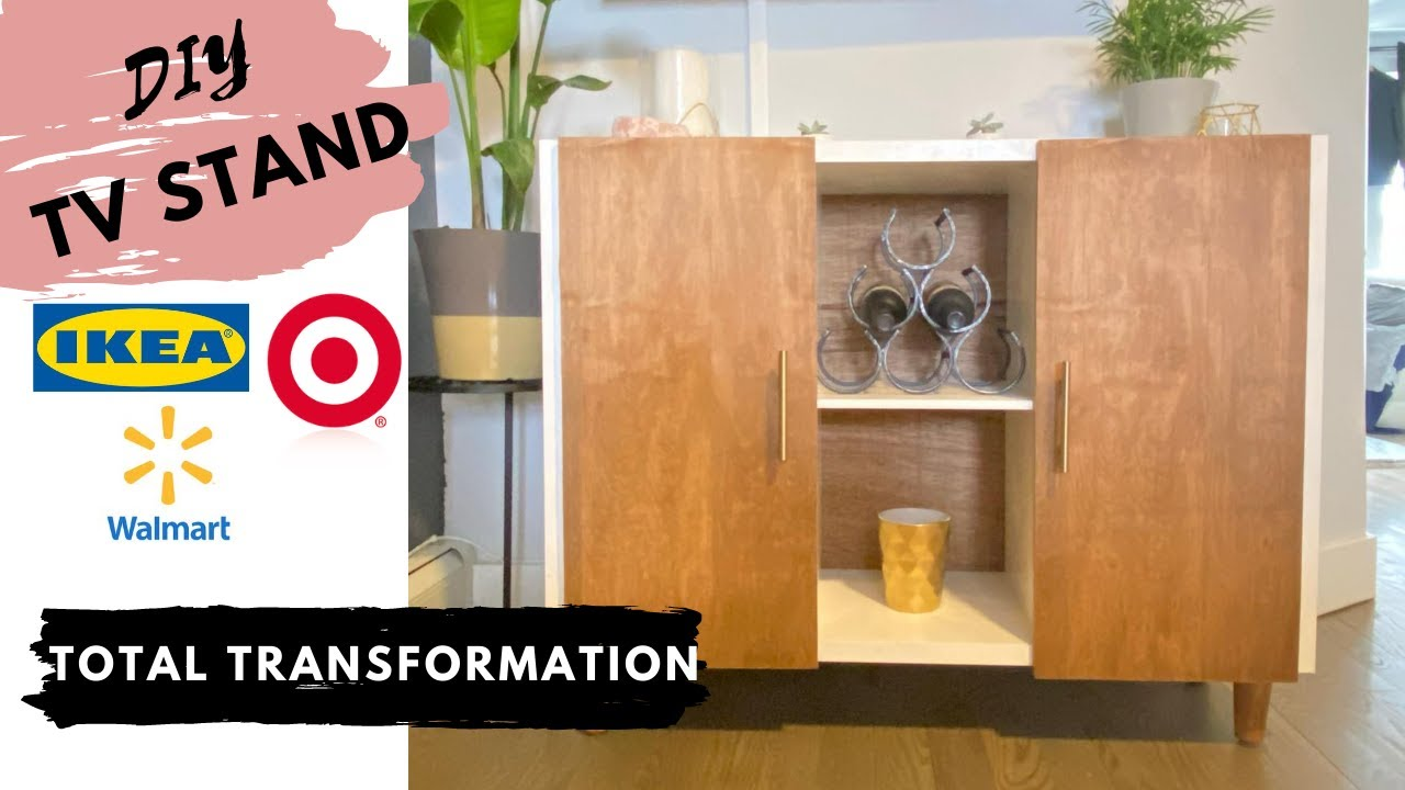 IKEA HACK: Extreme DIY TV Stand Transformation