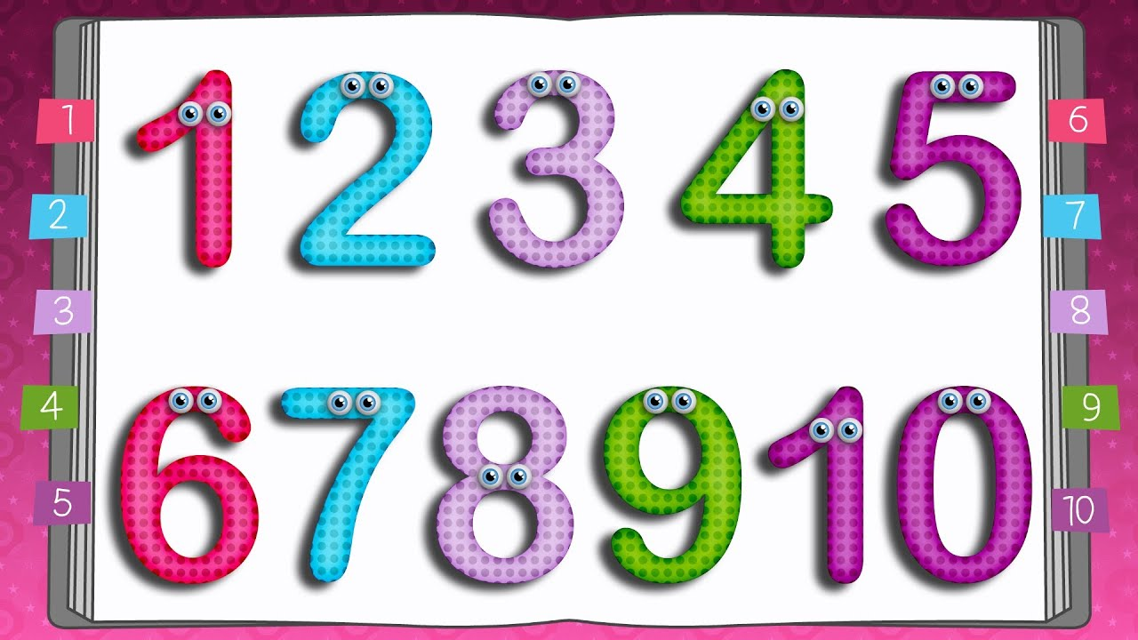 Learn to Write Numbers | 10 Little Numbers Song for Children - YouTube