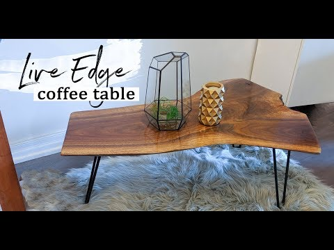 How to Build a Live Edge Wood Coffee Table (DIY)