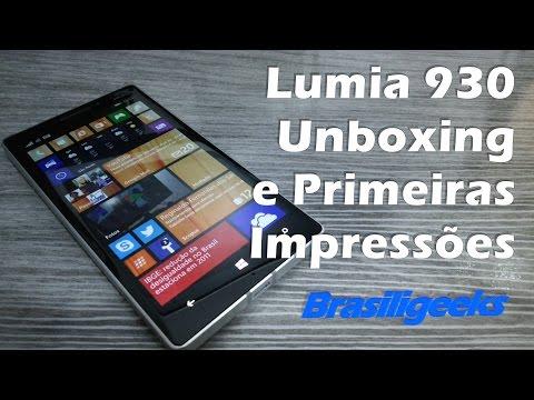 Lumia 930 - Microsoft / Nokia - Unboxing e Primeiras Impressões