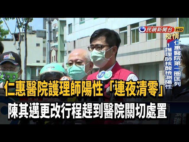 仁惠醫院分三圈採檢 第一圈內1護理師陽性-民視台語新聞
