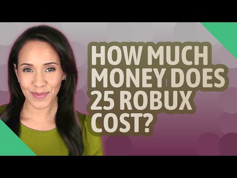 How Much Money Does 25 Robux Cost Youtube