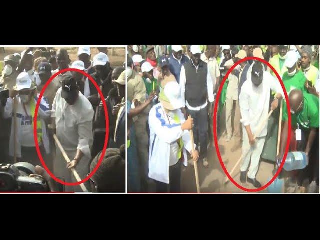 Journée national de nettoyage: Regardez le Président Macky SALL se salit les mains !