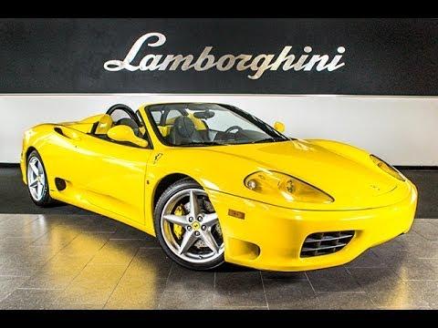 2004 Ferrari 360 Modena Spider Giallo Modena Lt0610 Youtube