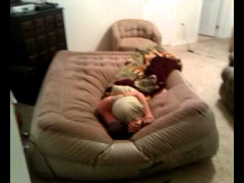 sleeping on air mattress Deflating an air bed with Dixter sleeping on it.   YouTube sleeping on air mattress