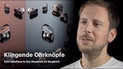 Fünf kabellose In-Ear-Headsets im Vergleich