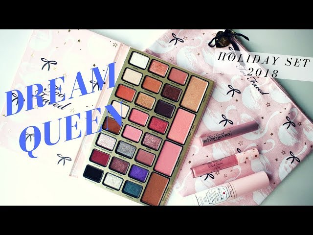 TOO FACED - DREAM QUEEN - FIRST IMPRESSIONS - MAKEUP LOOK - SWATCHES