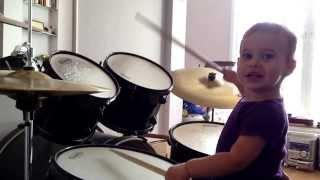 18 months old baby drummer