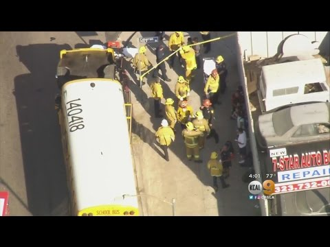 10 Injured In School Bus Crash In Arlington Heights