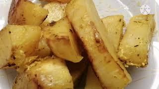 Золотистая картошка в духовке Напоминает Картофель по деревенски Очень простой рецепт