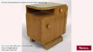 Art Deco Antique Bedside Table/commode French Tables for