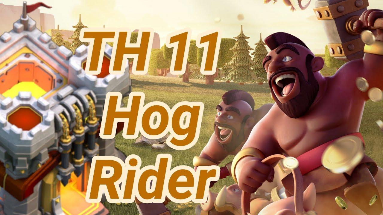 hog rider 3 Star War Attack | TH 11 | hogs | COC 2018 CW ...