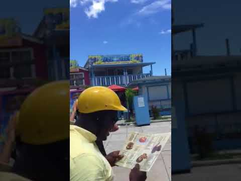 Jamaican sales lady in Bahamas
