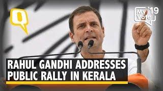 Rahul Gandhi Addresses a Public Rally in Pathanapuram, Kerala