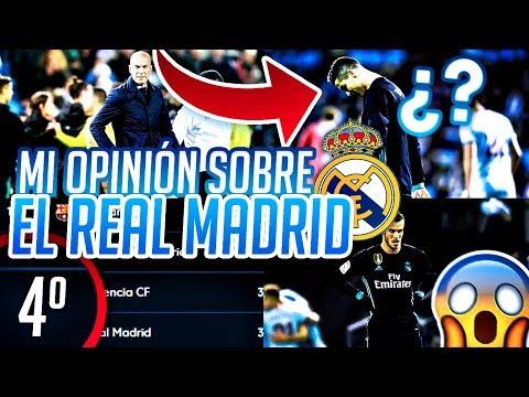 MI OPINIÓN SOBRE LA DELICADA SITUACIÓN DEL REAL MADRID !!