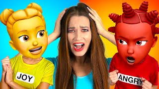IF FEELINGS WERE PEOPLE - I kissed my crush!! Inside-out musical by La La Life Emoji