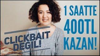 İnternetten Para Kazanma Yolları,  1 Saatte 400tl Kazan!