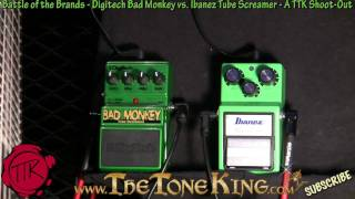 Bad Monkey vs Tube Screamer TS9 Shoot-Out - Digitech vs Ibanez - 30 Pedals Day #27 NAMM 2011 11 TS-9