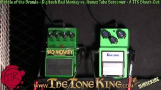 Bad Monkey vs Tube Screamer TS9 Shoot-Out - Digitech vs Ibanez - 30 Pedals Day #27 NAMM 2011 11 TS-9
