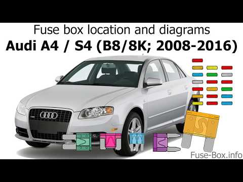 [EQHS_1162]  Fuse box location and diagrams: Audi A4 / S4 (B8/8K; 2008-2016) - YouTube | 2008 Audi A4 Fuse Box |  | YouTube