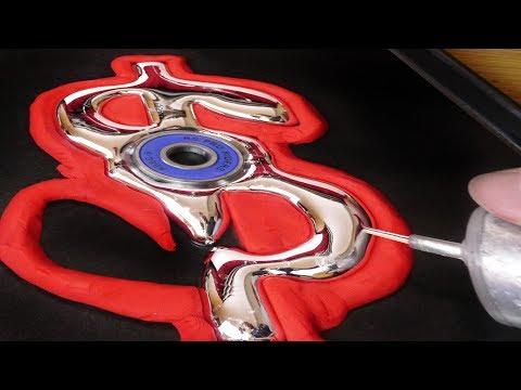 DIY Gallium Dollar Sign $ Fidget Spinner