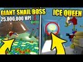 SECRET ICE QUEEN BEE AREA / GIANT SNAIL AND MORE IN BEE SWARM SIMULATOR UPDATE! (Roblox)