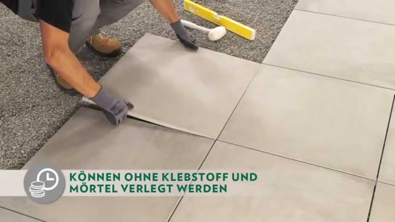 verlegung auf kies - novoceram outdoor plus - youtube