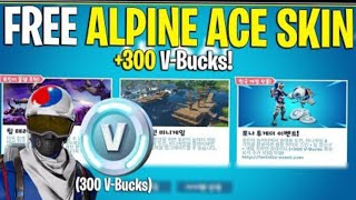 Fortnite how to UNLOCK Alpine ace (KOR) Skin FOR FREE!!!