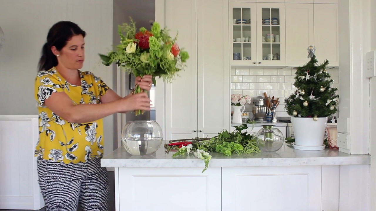 How to cut flowers the right length for a bowl vase youtube how to cut flowers the right length for a bowl vase reviewsmspy