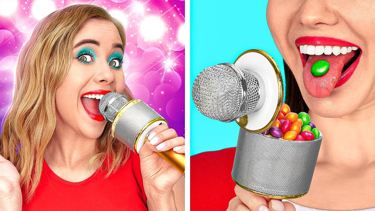SNEAK CANDIES INTO A CLUB || How to Sneak Food From Anyone! Secret Snacks and DIY by 123 GO! FOOD