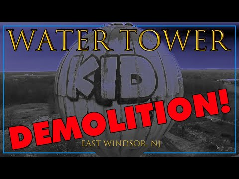 NL Water Tower, East Windsor, NJ Demolished