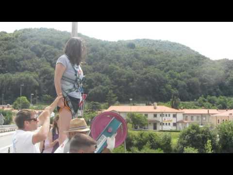 Screaming Bungee Jump in Soca River, Slovenia