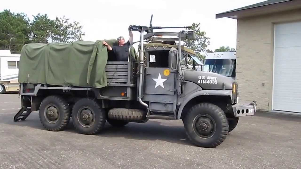 "Military Vehicles For Sale >> 1952 GMC M-135 ""Deuce & a Half"" - YouTube"