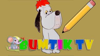 We learn to draw, doggie of Droopy from the #cartoon, in English language a Series 2