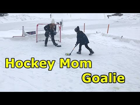 Kids Hockey- Mom as Goalie for Shoot Out