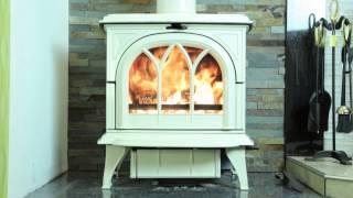 Stovax 30 Huntingdon (6kw) Cream Enamel Wood Burning & Multifuel Stove