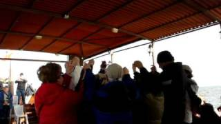 On a boat on the Sea of Galilee - Pilgrimage to the Holy Land