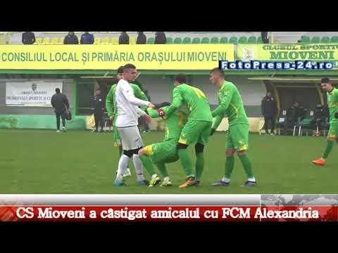 CS Mioveni a câstigat amicalul cu FCM Alexandria