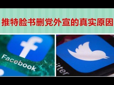 推特脸书删党外宣账户的真实原因