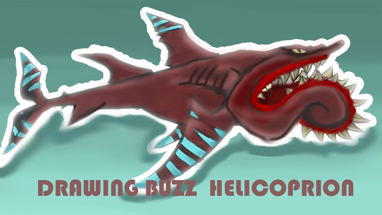 Drawing Buzz Helicoprion from Hungry Shark World   YouTube