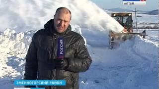 """Змеиногорский район оказался в """"снежном плену"""""""