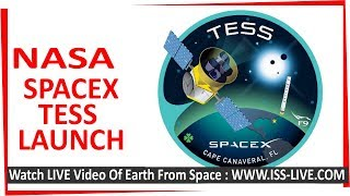 SpaceX Launch : NASS TESS Planet Hunter Satellite - landing of stage one and satellite deployment