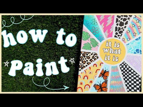 Paint With Me Quarantine Edition Easy Aesthetic Painting Ideas To Try When You Re Bored Youtube