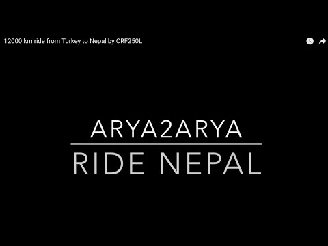 12000 km ride from Turkey to Nepal by CRF250L