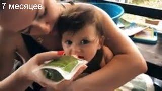 Развитие ребенка в 7 месяцев . Гимнастика в бассейне. Идеальный прикорм